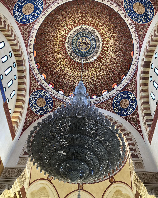 Libanon Beiroet Al Amin Moskee Kroonluchter
