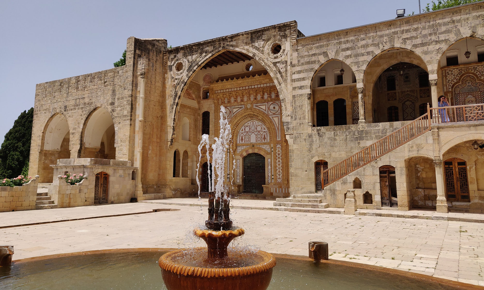 Libanon Beit Ed Dine Paleis Fontein