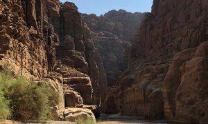 Jordanië - Wadi Mujib, start siq trail