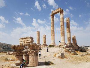 Amman Citadel Hill Romeinse ruïnes
