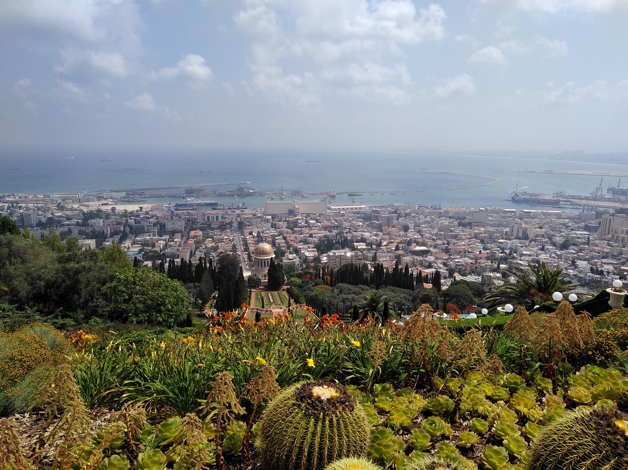 Haifa Bahai Tuinen Uitzicht