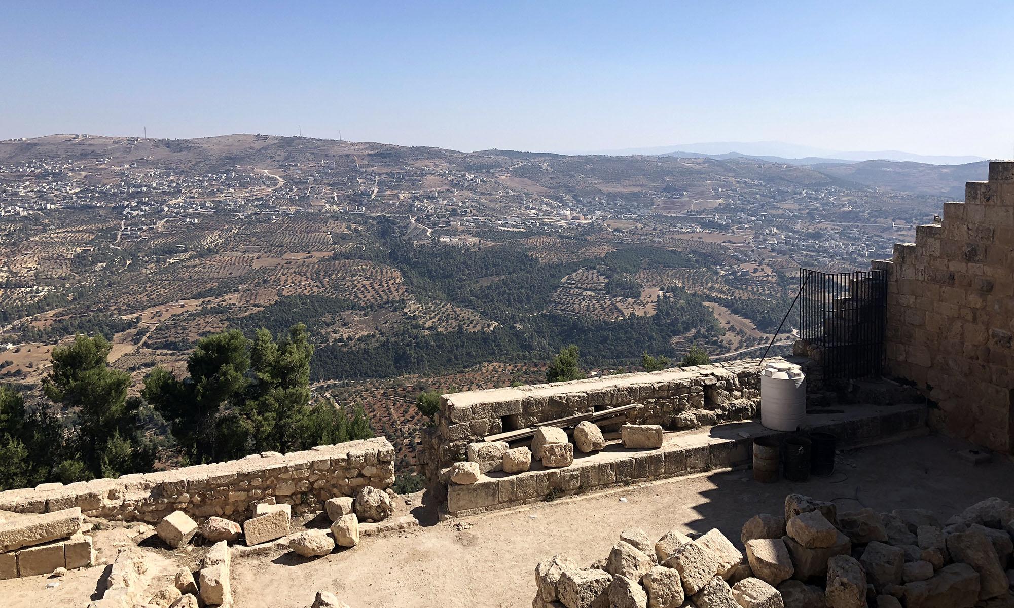 Jordanië Ajloun Castle Uitzicht