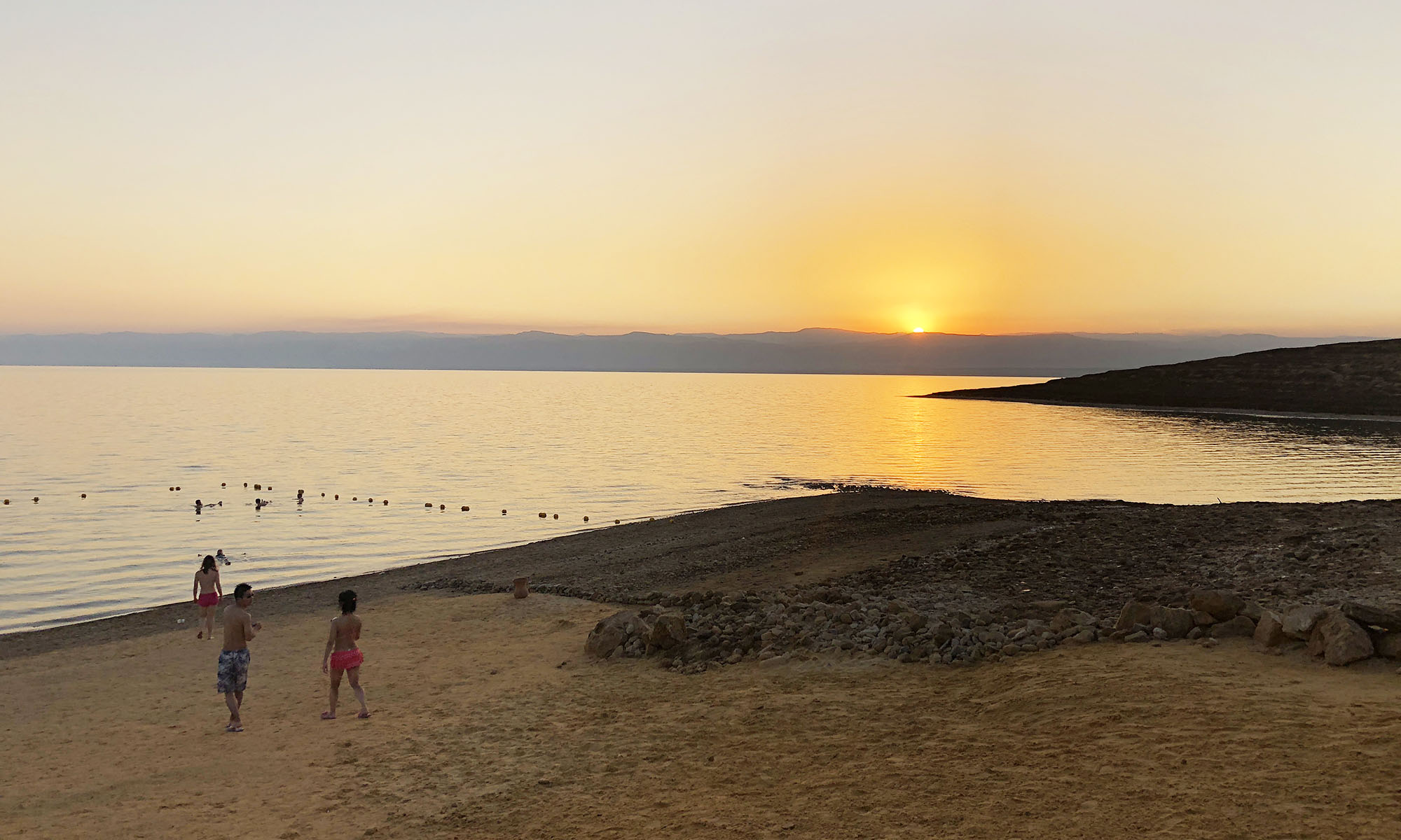Jordanië Dode Zee Zonsondergang