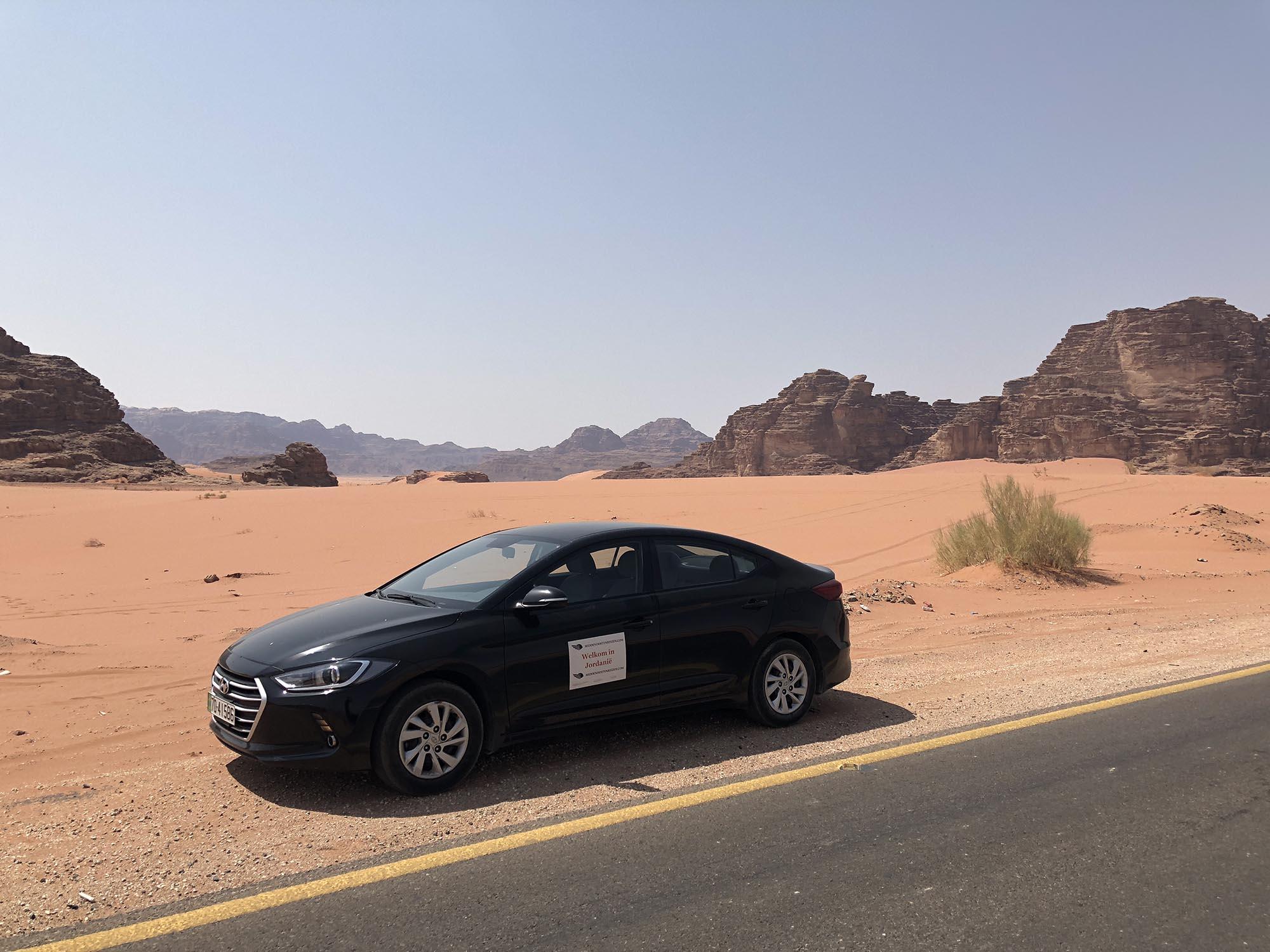 Jordanië Wadi Rum Huurauto