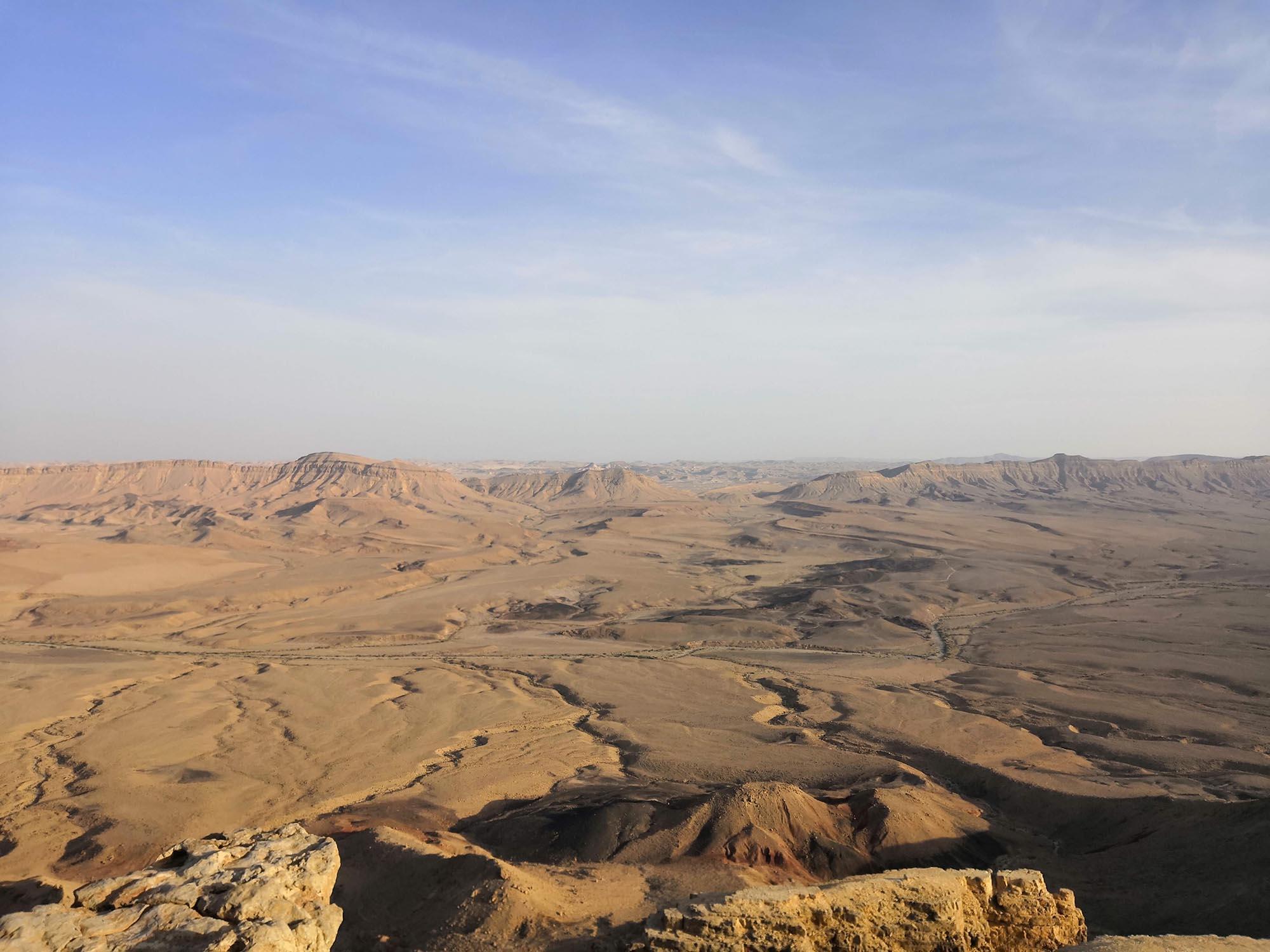 Mitzpe Ramon Krater Uitzicht