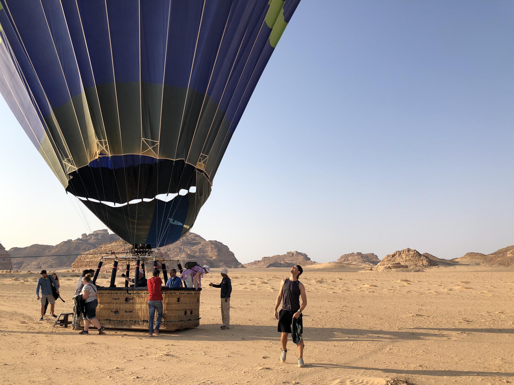 Wadi Rum Ballonvaart Over Woestijn