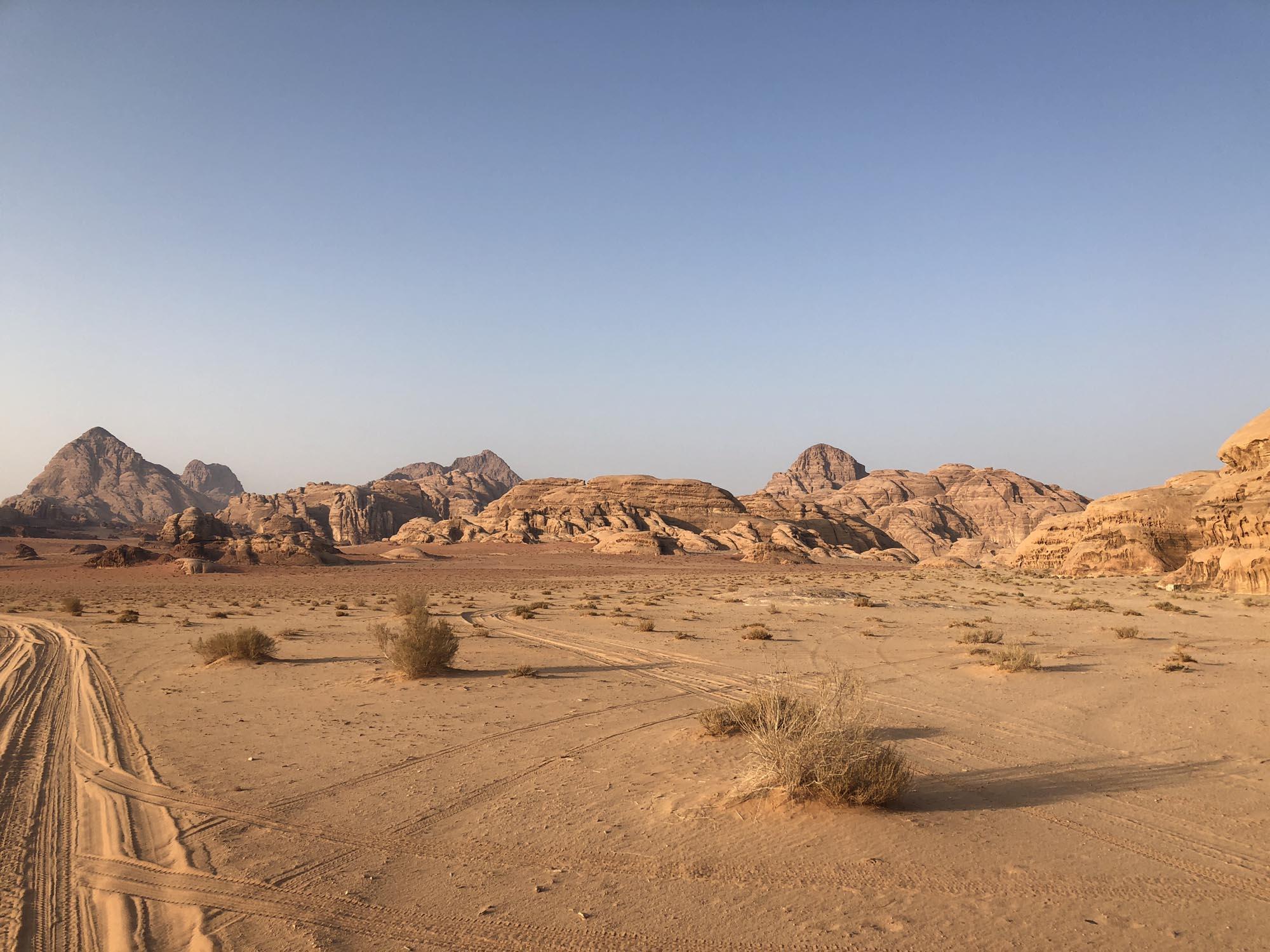 Wadi Rum Woestijn Bergen