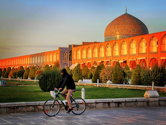 Biking in Isfahan