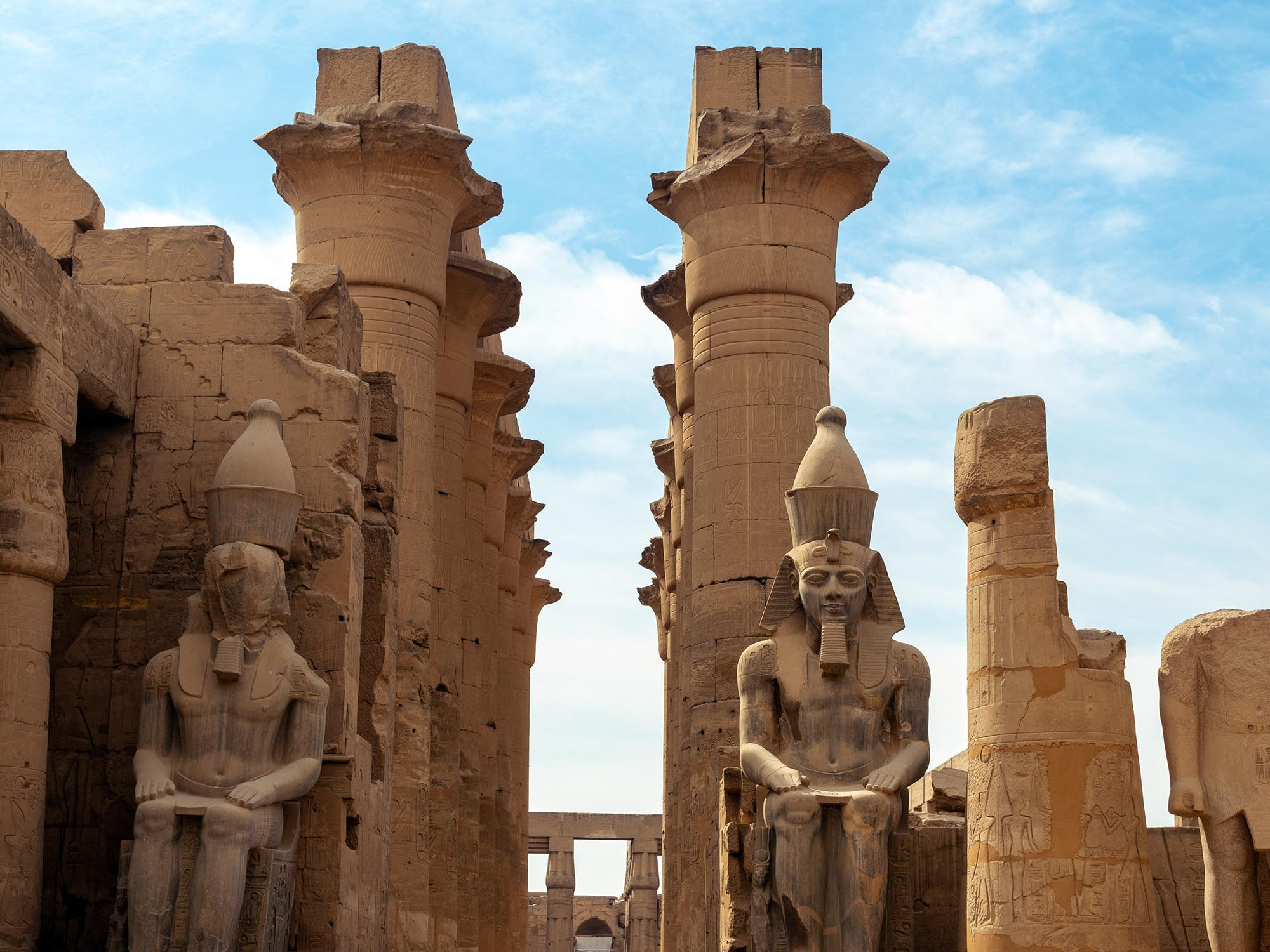 Egypte Beelden Tempel Luxor