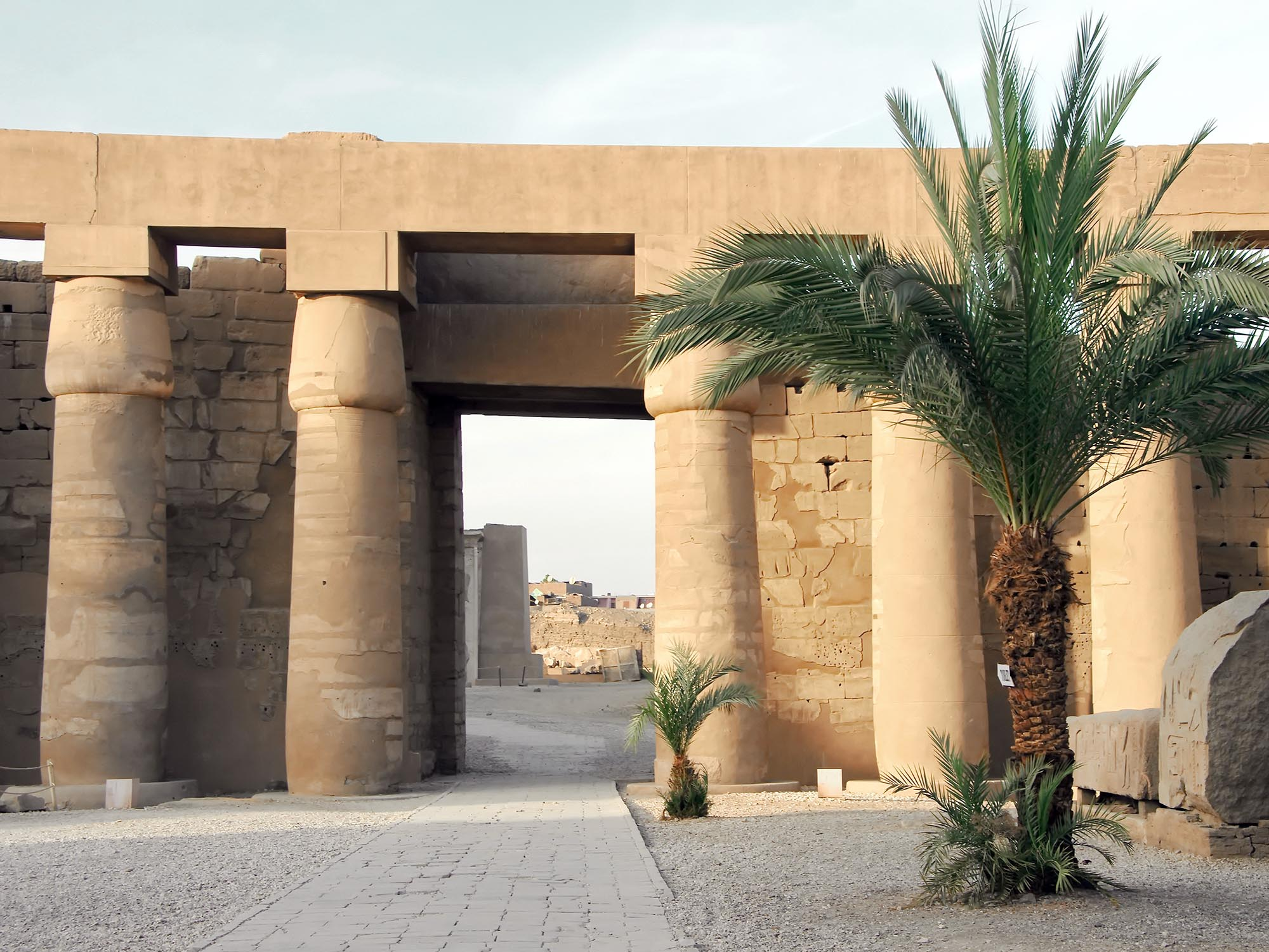 Egypte Luxor Zuilen