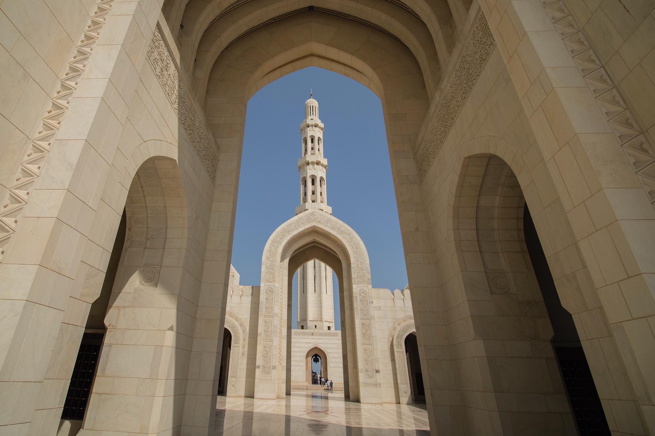 Muscat Sultan Kaboos Moskee Binnen